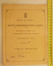 CITTA' DI TORINO @ SCUOLA ELEMENTARE G.PARINI @ CLASSE 4^ ANNO 1912/13