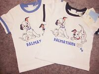 BABY BOYS WHITE 101 DALMATIANS T-SHIRT FROM DISNEY BNWT AGES 3 MONTHS -9 MONTHS