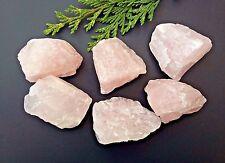6 x Rose Quartz Raw Natural Crystal Mineral Specimen 30-40mm - Gridding