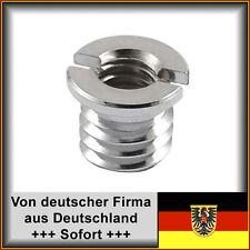 """Stativgewindeadapter 1/4"""" auf 3/8"""" IG / AG für Kameras, Fernrohre etc."""
