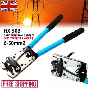 50mm² Hydraulic Crimper Crimping Tool Dies Wire Battery Cable Hose Lug Terminal