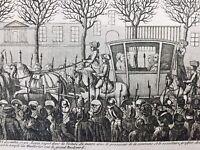Rarissime Procès Roi Louis 16 1792 Gravure ancienne révolution Française Paris