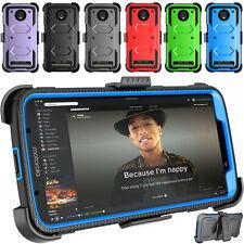 For Motorola Moto Z3 Verizon/Z4/Z2 Play Belt Clip Holster Hybrid Screen Case 360