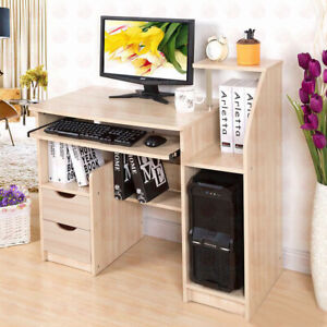 Office Home PC Computer Desk Writing Study Table Workstation Shelf Furniture UK