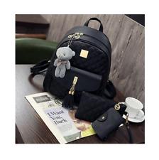 3 Pcs Bear Backpack Diamond Lattice For Girls Backpacks For Women Bags Sac A Dos