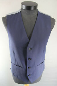 BRAND NEW GARETH SOUTHGATE ENGLAND STYLE BLUE WOOL BLEND WAISTCOAT 38-42 INCH