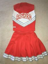 Cheerleader Uniform Outfit Costume Teen Orange White Girl 14 Ladies Xs Authentic