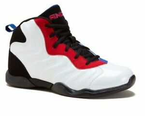 AND1 Assist 2.0 Basketball Athletic Mid Top Sneakers White Red Blue