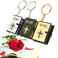 FD3230 Bible Key Chain Christian Jesus Cross Keyring Minature Gift Sunday 1pcs