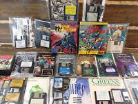 Lot (18) Vintage PC Games Floppy Disks Street Fighter 2 Leisure Larry 6 Extras