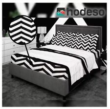Bedsheet Fitted Sheet Cover Linen Collection w/Pillowcase - BLACK (QUEEN)