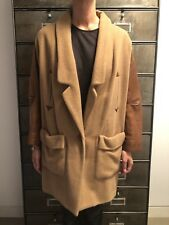 Rachel Comey Designer Tan Coat with Leather Sleeves Size S