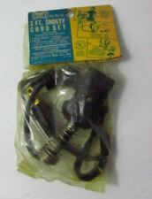 """Vintage Eagle Shorty 3ft Appliance Cord 1/2"""" spacing 6ft coffee pots toasters"""