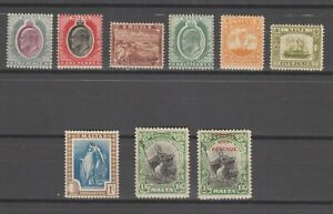 s38426 MALTA 1903/1925 MH* KEVII-KGV lot as per scan