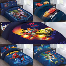 Disney Marvel Pixar Movie Collection Bed Comforter Set Boys Girls Babies Todlers