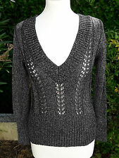 Pull maille Gris CAROLL - Taille 36 FR