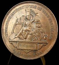 Médaille Léopold II Belgique exposition internationale 1880 à Otto Lelm medal