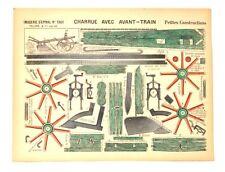 Imagerie D'Epinal No1361 Charrue Avec Avant-Train/Petite Constructionpaper model