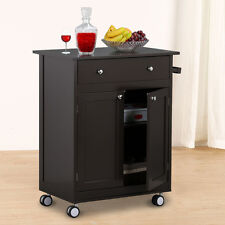 Rolling Pine Kitchen Trolley Cart Dining Drawers Cabinet Organization,On Wheels