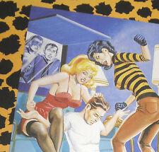 Eric Stanton feticcio culto erotico cartolina atto BDSM arte disegno catfight