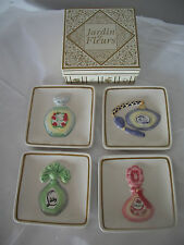 Jardin de Fleurs Mini Perfume Plates Set of 4 Mini Plates NEW In Box