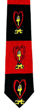 Dr Seuss Proo Hearts Mens Necktie Valentines Day Gift Red Silk Neck Tie New