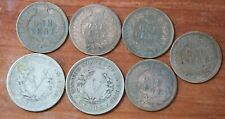 7 old USA coins Indian head small cent and V Nickel