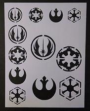 """Star Wars Rebel Empire Sith Jedi Logo Seal 8.5"""" x 11"""" Stencil FAST FREE SHIPPING"""