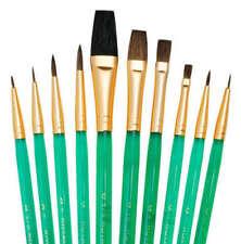 ROYAL & LANGNICKEL SVP3 10pc Brush Set~Detail round,Flat,Shaders & Pointed Round