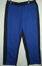 Womens ROAMAN'S Large ROYAL BLUE & BLACK CASUAL FRENCH TERRY PANTS track job