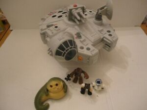 2011 Star Wars Galactic Heroes MILLENNIUM FALCON 2 in 1 playset w/Jabba the Hut