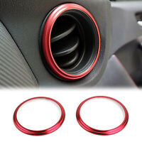 2x Car Aluminum Air Outlet Trim Cover Sticker Red Fits For Subaru BRZ Toyota 86