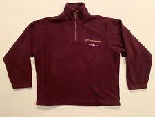 GANT USA Fleece 1/4 Zip Jacket Heavy Embroidery Maroon Mens XL