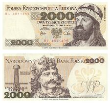 Poland 2000 Zlotych 1979 P-147b Banknotes UNC