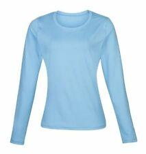 Abbigliamento sportivo da donna blu manica lunga in poliestere