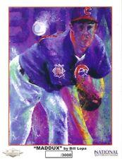 Greg Maddux Chicago Cubs 8x10 art print Bill Lopa 2005 National NSCC ltd to 3000