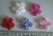 Flowers Knitted Cardmaking craft embellishments Hair accessory Shoes decoration