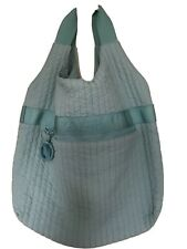 Lacoste Lge long line Quilted Bag Duck Egg Blue Vegan Hobo Handbag Ex Con