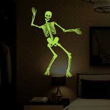 Halloween Skeleton Glow At Night Room Home Decor Removable Wall Stickers Decals