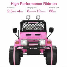 12V Kids Ride on Toy Electric Power Wheels w/ Remote Control Off Road Racing Car
