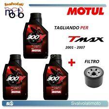 KIT TAGLIANDO YAMAHA T-MAX TMAX 2003 3 LITRI OLIO MOTUL 300V 10W40 + FILTRO OLIO