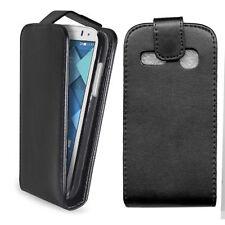 custodia in eco pelle a libro nera per ALCATEL POP C3 one touch flip case