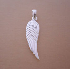 925 Sterling Silver Angel, Fairy Wing Pendant, Charm Two Sides are Same