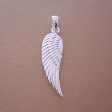 Plata esterlina 925 Colgante de Ala de ángel, hada, encanto dos lados son iguales