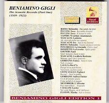 Beniamino Gigli - The Acoustic Records Vol.1 (1918-1923)