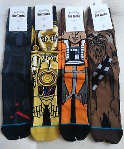 Brand New Star Wars Unisex Socks Chewbacca Yoda Boba Fett C3PO R2D2 Vader BB-8 +