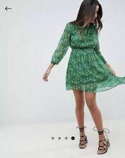 Boohoo Floral High Neck Mini Dress Size 10