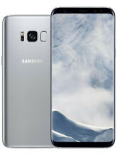 Samsung Galaxy S8 in Silber Handy Dummy Attrappe - Requisit, Deko, Werbung
