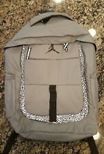 NIKE JORDAN BACKPACK JUMPMAN BOOK BAG LAPTOP GREY 3M 9A1685 146