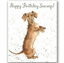 Wrendale HAPPY BIRTHDAY SAUSAGE CARD by Hannah Dale Made in the UK SAUSAGE DOG